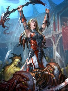 UK-based artist James Ryman creates amazing fantasy, horror and sci-fi themed artwork and illustrations. Fantasy Warrior, Fantasy Girl, Chica Fantasy, Warrior Girl, Dark Fantasy, Warrior Women, Fantasy Women, Character Concept, Character Art