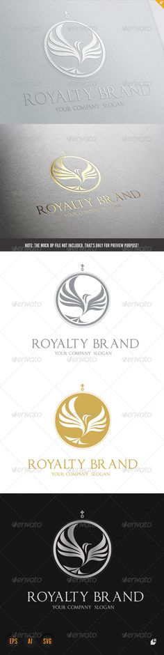 Royalty Brand #GraphicRiver This logo design for all creative business. Consulting, Excellent logo,simple and unique concept. Logo Template Features AI and EPS (Illustrator 10 EPS) 300PPI CMYK 100% Scalable Vector Files Easy to edit color / text Ready to print Font information at the help file If you buy and like this logo, please remember to rate it. Thanks! Created: 22October13 GraphicsFilesIncluded: VectorEPS #AIIllustrator Layered: No MinimumAdobeCSVersion: CS