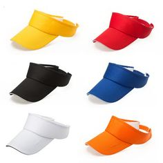 ab8be164f7f Opromo Plain Sun Visor Cap with Sandwich Bill Adjustable Hat for Men and  Women