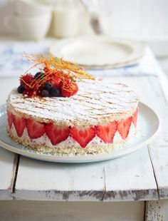 Instant Strawberry Gâteau from James Martin's United Cakes of America: http://gustotv.com/recipes/dessert/instant-strawberry-gateau/