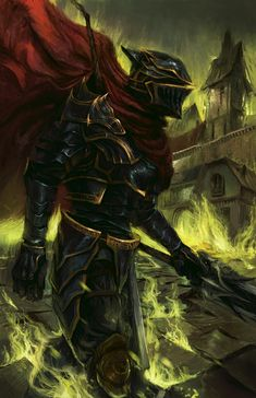 The Warrior from Darkness (overlord) Evil Anime, Otaku Anime, Manga Anime, Fantasy Kunst, Dark Fantasy Art, Fantasy Character Design, Character Art, Fantasy Characters, Anime Characters