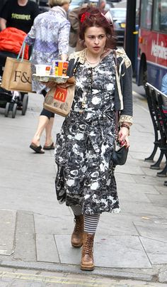 Helena Bonham Carter needs some refreshing from Mc Donalds 2011