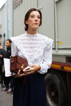 olivemylove:    Street style by The Sartorialist - school-marm chic