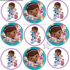 Doc Mcstuffins Birthday, Glass Magnets, Bottle Cap Images, Ribbon Hair Bows, Ideas Para Fiestas, 3rd Birthday Parties, Cake Toppers, Party Themes, Scrap