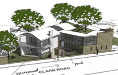 proposed new #home on a corner lot