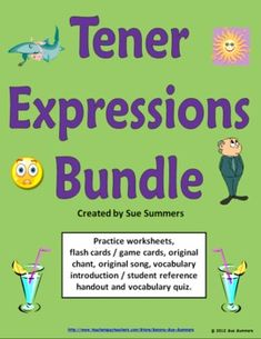 Spanish Tener Expressions Bundle by Sue Summers - Worksheets, Quiz, Cards & More!