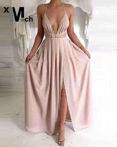 Price $36.79 Like and Share if you want this Elegant Sexy Long Dress Deep V-neck Backless Straps Side Slit Bandage Dress Satin Maxi Dress DR12015B     Tag a friend who would love this!       Buy one here---> https://www.fashiondare.com/elegant-sexy-long-dress-deep-v-neck-backless-straps-side-slit-bandage-dress-satin-maxi-dress-dr12015b/
