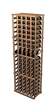 Designer 5Column Display Wine Rack Rustic Pine  Midnight Black Stain -- You can get more details by clicking on the image. (This is an affiliate link) #FreestandingWineRacksCabinets