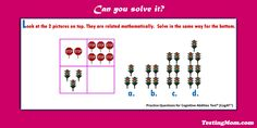 CogAT Number Analogies question...can your child solve it?  For more questions like these, click on the picture.