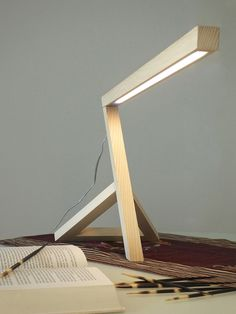 LED handmade ash table lamp ZIGO by FRIGERIO PAOLO & C. design MARCONATO & ZAPPA ARCHITETTI ASSOCIATI