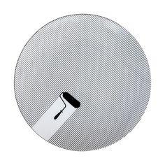 Cheeky | Fine Lines Paint Roller Porcelain Appetizer Plate