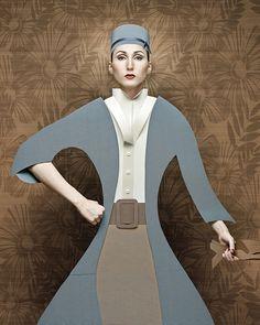 Click for more pics! | Cardboard Ladies by Christian Tagliavini Renaissance  #cardboard #paper #fashion