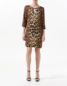 Leopard Print Satin Tunic - Zara - twerk it with a black blazer for work, some sky-high leather wedges for an evening soiree!