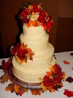 Fall+Wedding+Cakes   Fall wedding cake — Round Wedding Cakes