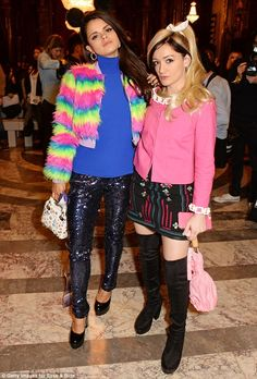 Making a statement: Louby McLoughlin and Bip Ling injected a splash of colour into their f...