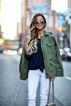 MARCH 28TH, 2017 BY MARIA 2 Ways To Style White Denim This Spring -  Bailey 44 Off The Shoulder Top via Stitch Fix // Velvet Cargo Jacket via Stitch Fix // Paige White Jeans via Stitch Fix