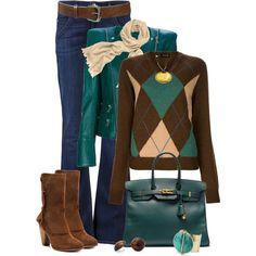 Argyle Sweater - Polyvore