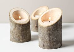 21 DIY Wooden Candle...