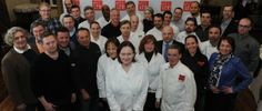 Chefs gather for a photo to launch the Spring Hudson Valley Restaurant Week, presented by The Valley Table, Monday, Feb. 24, 2014, in Tarryt...