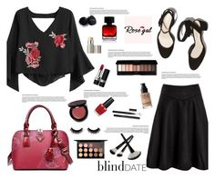Rosegal : Blind Date by jasmina-fazlic on Polyvore featuring MAC Cosmetics, Ilia, Christian Dior, Bobbi Brown Cosmetics, MAKE UP FOR EVER, The Collection by Phuong Dang and OPI