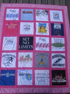 T-Shirt Quilt ...start saving important/fav tshirts now through school years & give for graduation