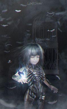 3D Digital Art Gallery | 3d Picture (3d, sci-fi, little girl)