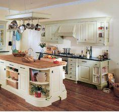 country white kitchen 600x564 Country style kitchen ideas