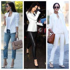 White Blazer to look elegante and classy. Check my blog! www.SallySalas.com #ClosetEssentials