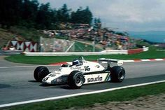 Osterreichring, August 1982: Keke Rosberg was second in the Austrian Grand Prix after one of the closest finishes in Formula One history. His Williams FW08 crossed the line just 0.050 seconds behind the Lotus of race winner Elio de Angelis. © Sutton