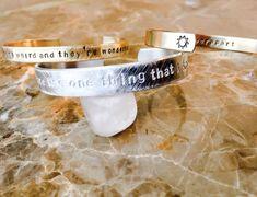 Inspirational Message Bracelet  Custom Hand by BlueCornerCreasigns