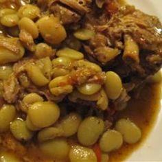 Neck Bones and Lima Beans Allrecipes.com