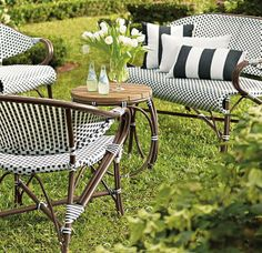 With the Parisian bistro as our style muse, we've created an elegant, durable, and comfortable outdoor collection that recalls the traditional rattan furniture found in French sidewalk cafés.