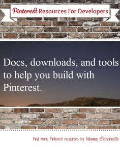 Official Pinterest resources to help you integrate your Pinterest into your content marketing - including your iOS and Android apps and resources for 'Rich Pins'