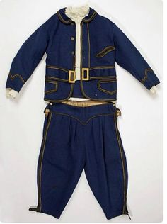 1870s boy's outfit. Almost exactly like one in The Met.