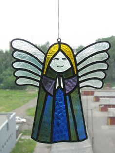 Angel from Stained Glass by LegzdaArtworks on Etsy, $210.00