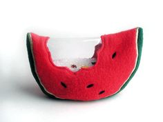 """Watermelon I Spy Bag  put this juicy icon by thosegreathousewomen, $32.00  """"Bought two of these for my kids; the watermelon slice for Annika and a robot for Tristan and they LOVE them, they can play w these for a long long time"""" Marlenne"""