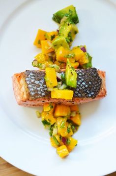 Mango and Avocado Salsa by Michelle Tam http://nomnompaleo.com Omit red pepper flakes #aipaleo