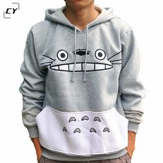 3XL Plus Size Men/women Cartoon Totoro Hoodie Unisex 3d Sweatshirt Harajuku Animal Pullover Hoodies Tops 2 Colors