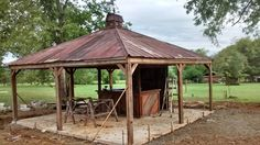 We had built this barn wood bar for a man cave then moved it outside and added a top complete with a cupola.