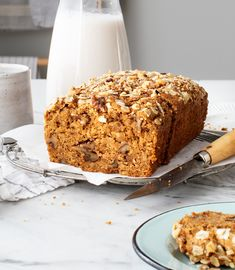 This easy banana bread recipe is perfectly moist, warmly spiced, and deliciously nutty with walnuts mixed in. You'll love this healthy banana bread! Banana Bread Ingredients, Healthy Banana Bread, Baked Banana, Banana Bread Recipes, Best Brunch Recipes, Breakfast Recipes, Favorite Recipes, Instant Pot, How To Store Bread