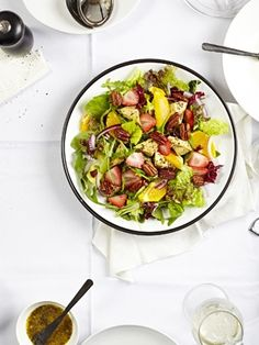 Strawberry Spinach Salad with Orange Poppy Seed Dressing