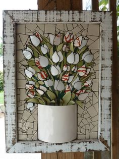 "Tulips - Broken Vase commission 18""x24"" by Nikki Murray-Mason, www.nikkiinc.com"