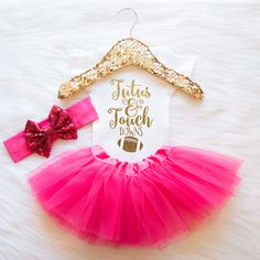 Hey, I found this really awesome Etsy listing at https://www.etsy.com/listing/253075932/baby-girl-clothes-tutus-touchdowns-shirt