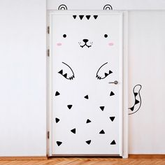 Tofu the Tiger The Spanish-Finnish family design studio, Made of Sundays, has created a cute series of vinyl decals that transform any door into an adorable animal or dragon. The collection of tige…