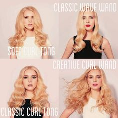 The patented GHD Curve series is available at My Hair Care. These tutorials will provide you with styling ideas on how to use your GHD curve styler to achieve your desired hairstyle. Big Curls For Long Hair, Big Waves Hair, Waves Curls, Soft Curls, Everyday Hairstyles, Pretty Hairstyles, Big Curls Tutorial, Different Types Of Curls, Ghd Hair