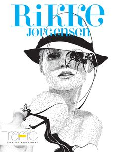 Rikke Jørgensen's graphic, yet lyrical work uses interweaving visual elements that play with one's sense of perception. Rikke's work reflects her passion for beauty, art, fashion and culture, a sensibility that has placed her on the upper tier of the illustration. Working in ink, with delicate details with a technique embodying very fine lines and minute dots much like pointillism, a style that she has become known for. #RikkeJorgensen  #TrafficNYC #FashionIllustration #inkdrawings