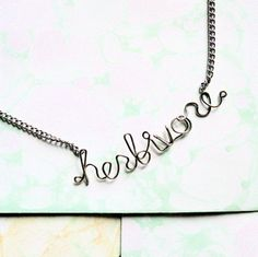 Herbivore Necklace  Vegetarian or Vegan silver wire by Exaltation, $21.00