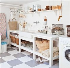 A laundry room should be one of the most workable rooms in your home. Whether you are building a new home or remodeling, there are some specifications and dimensions that you should keep in mind as you design your laundry room. Laundry Room Storage, Laundry Room Design, Laundry Rooms, Laundry Area, Garage Laundry, Basement Storage, Storage Room, Laundry Basket, Laundry Center