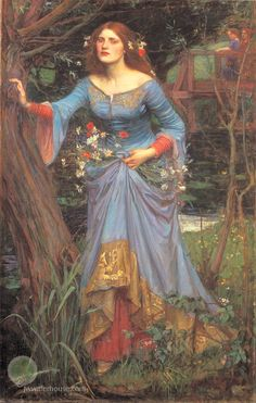 John William Waterhouse: Ophelia [blue dress] - 1905