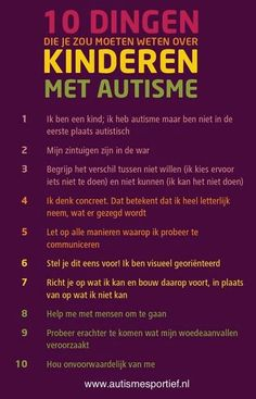 10 things you need to need about autism (in dutch)